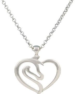 Montana Silversmiths Equestrian Heart Necklace, Silver, hi-res