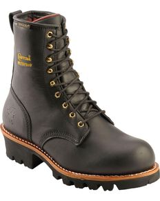 "Chippewa Men's 8"" Waterproof Logger Work boots, Black, hi-res"