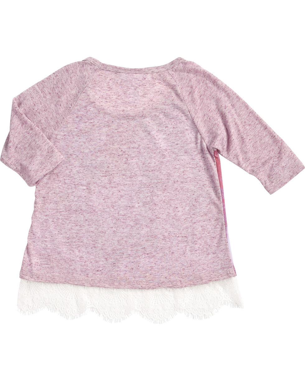 Shyanne® Girls' Running Horse Long Sleeve Shirt, Purple, hi-res