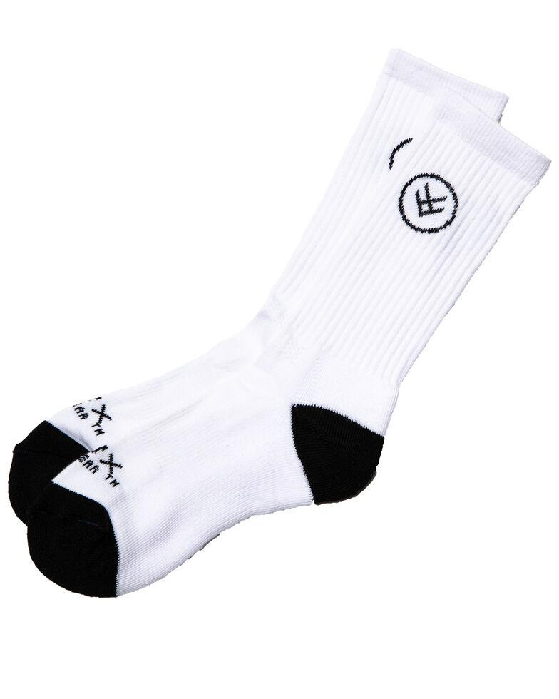 Hawx® Men's 3 Pack Moisture Management Speed Dry Crew Socks, White, hi-res