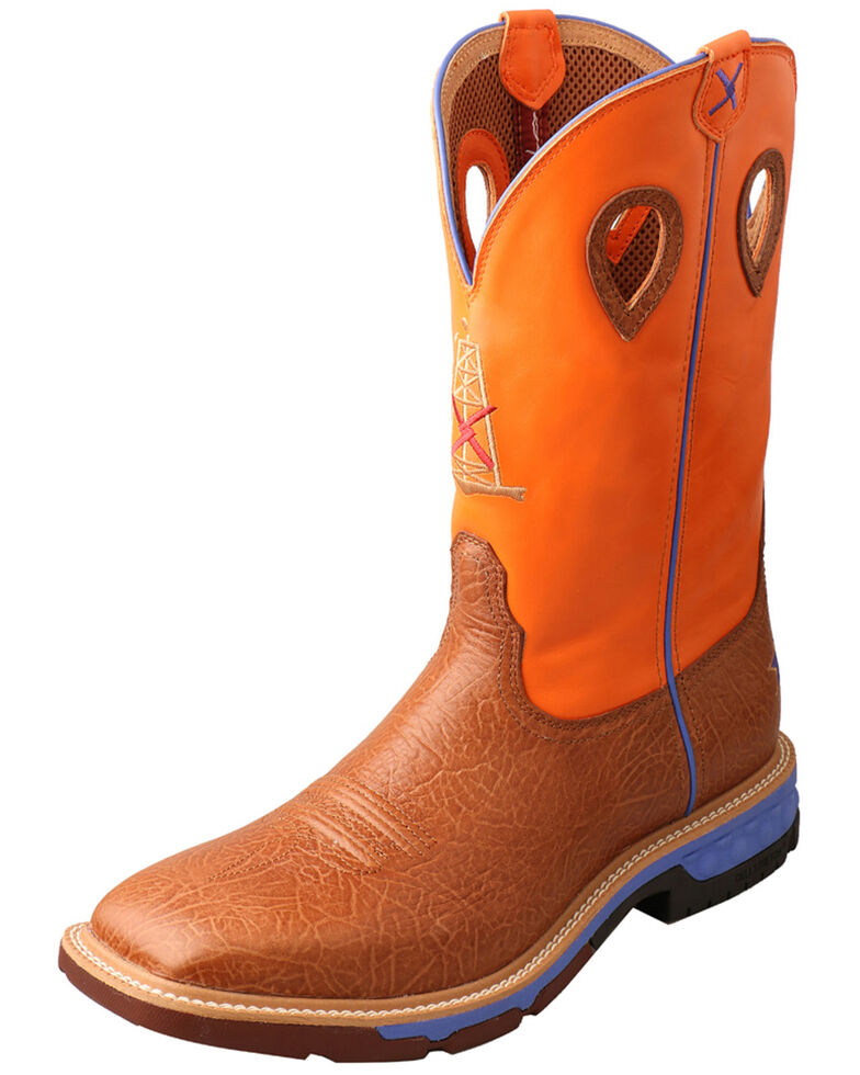 Twisted X Men's Tan CellStretch Western Work Boots - Alloy Toe, Tan, hi-res