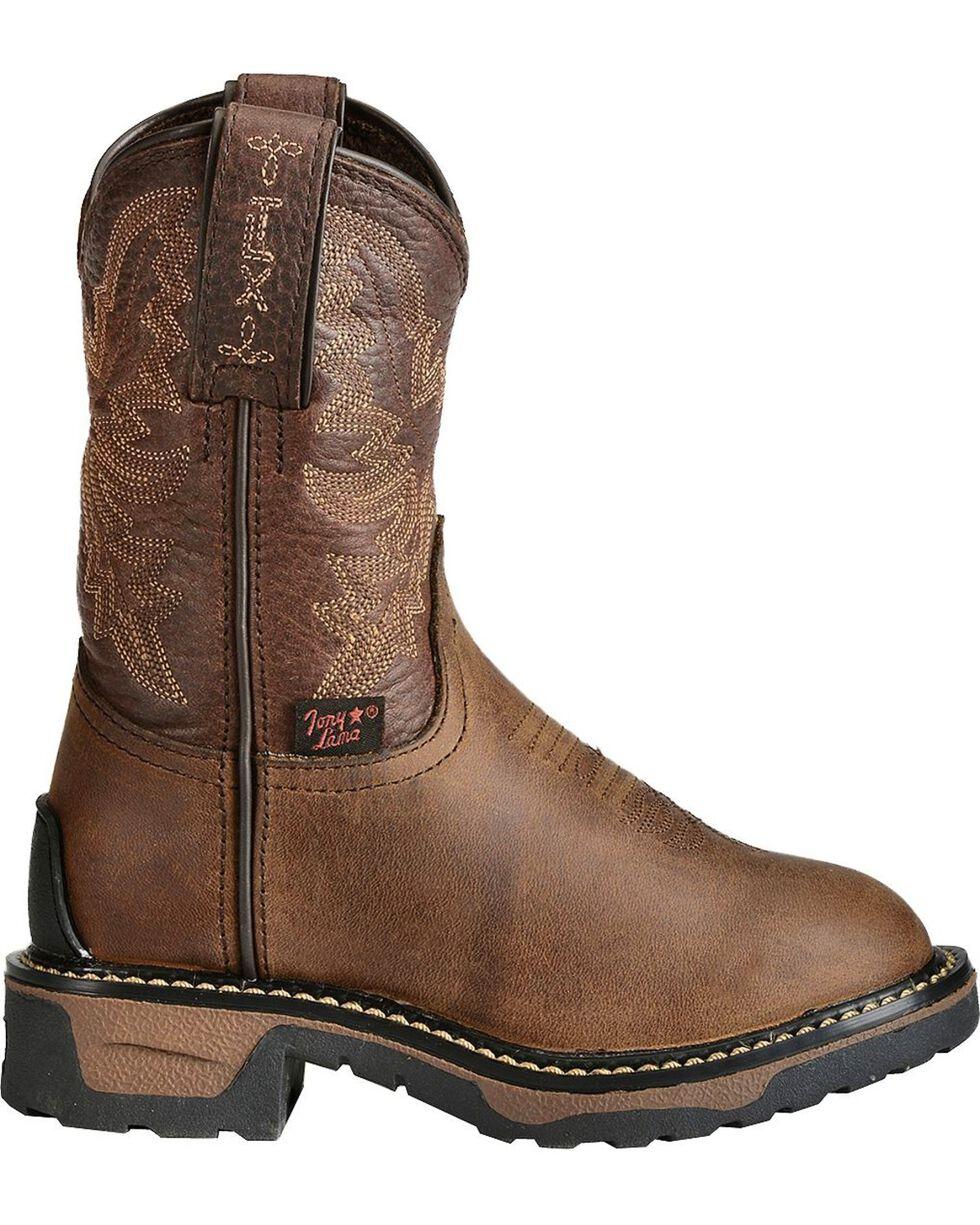 Tony Lama Youth Boys' Crazy Horse Western Work Boots - Round Toe, Crazyhorse, hi-res