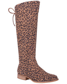 Dingo Women's Alameda Western Boots - Round Toe, Leopard, hi-res