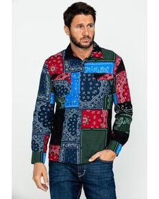 Levi's Men's Vernard Bandana Print Button Long Sleeve Flannel Work Shirt , Blue, hi-res