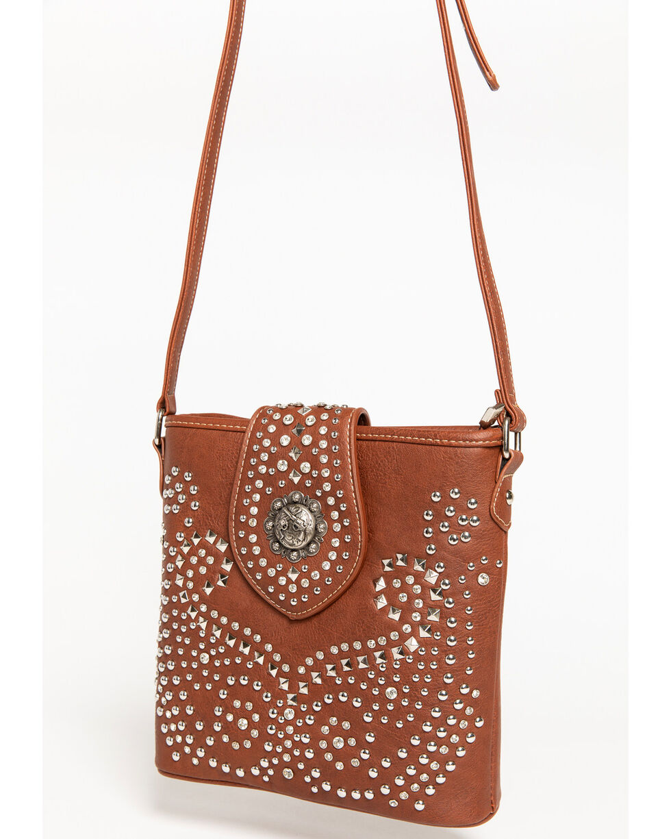 Shyanne Women's Rhinestone Swirl Crossbody Bag, , hi-res