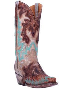Dan Post Women's All Eyes On Me Metallic Western Boots - Snip Toe, Brown, hi-res