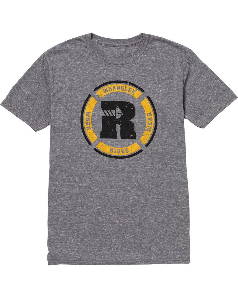 Wrangler Riggs Men's Grey Graphic Short Sleeve Work T-Shirt, Grey, hi-res