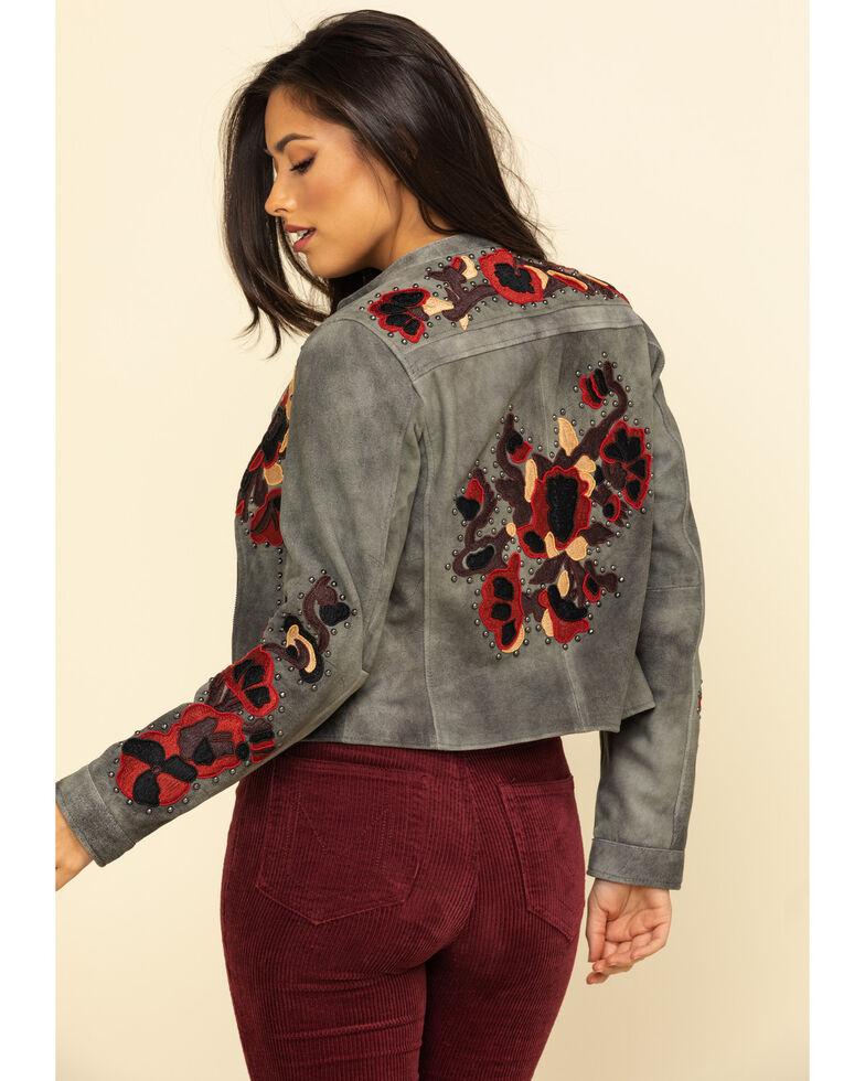 Tasha Polizzi Women's Suede Studded Rawlins Jacket, Black, hi-res