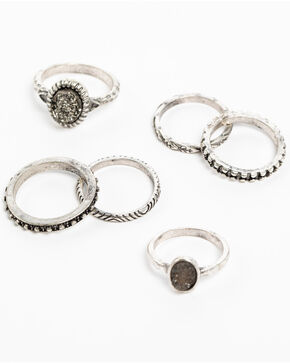 Shyanne Women's Slate Sparkle Multi Ring Set, Slate, hi-res