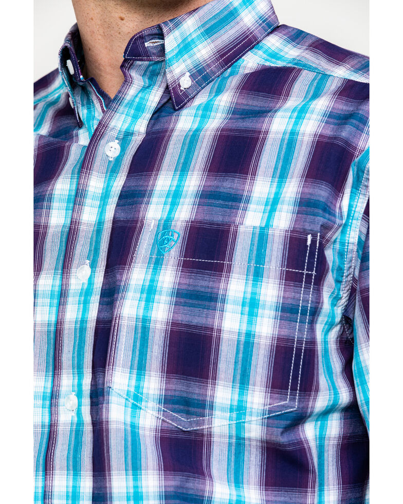 Ariat Men's Santos Large Plaid Long Sleeve Western Shirt - Tall, Multi, hi-res