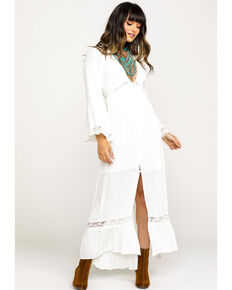 Band of Gypsies Women's Baja Duster Dress, White, hi-res