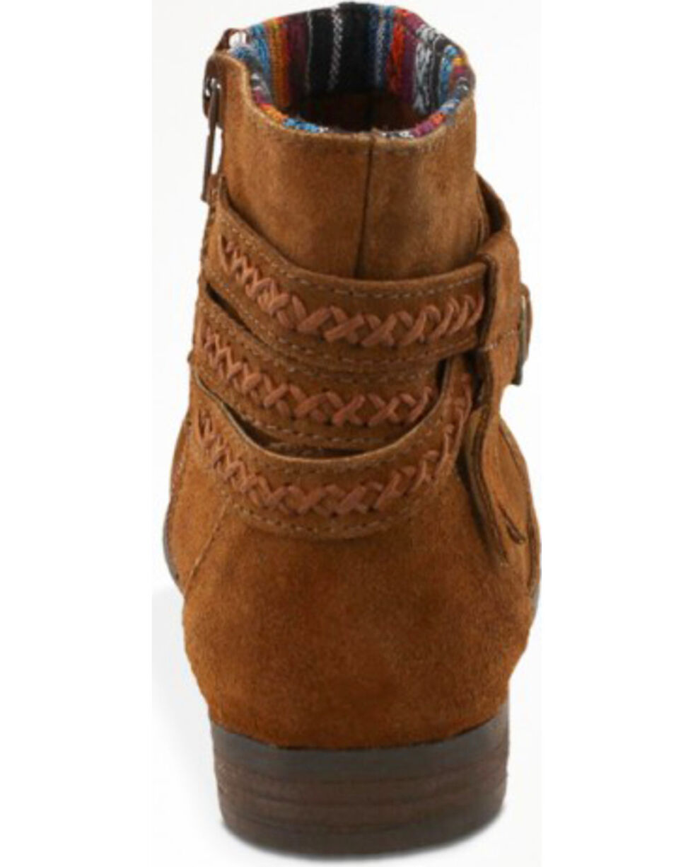 Minnetonka Women's Dixon Booties - Round Toe, Dusty Brn, hi-res