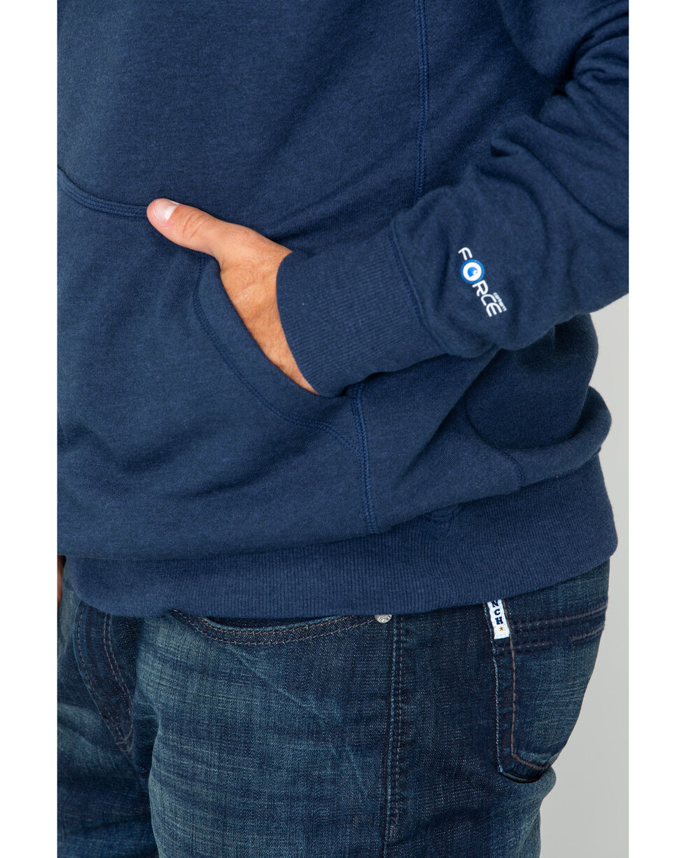 Carhartt Men's Graphic Hooded Work Sweatshirt , Navy, hi-res