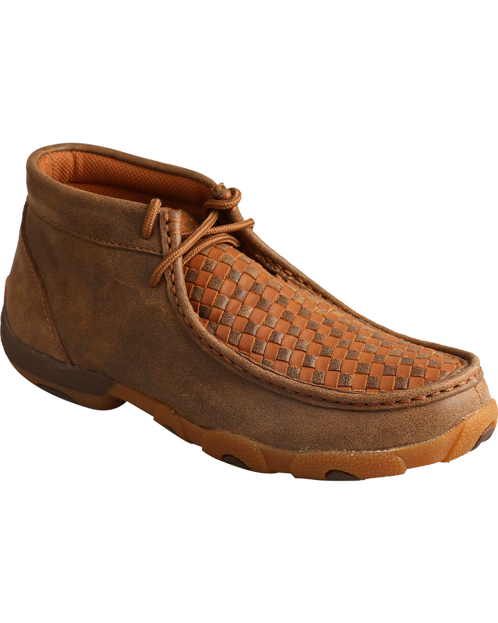 Twisted X Women's Driving Moc Toe Shoes, Brown, hi-res
