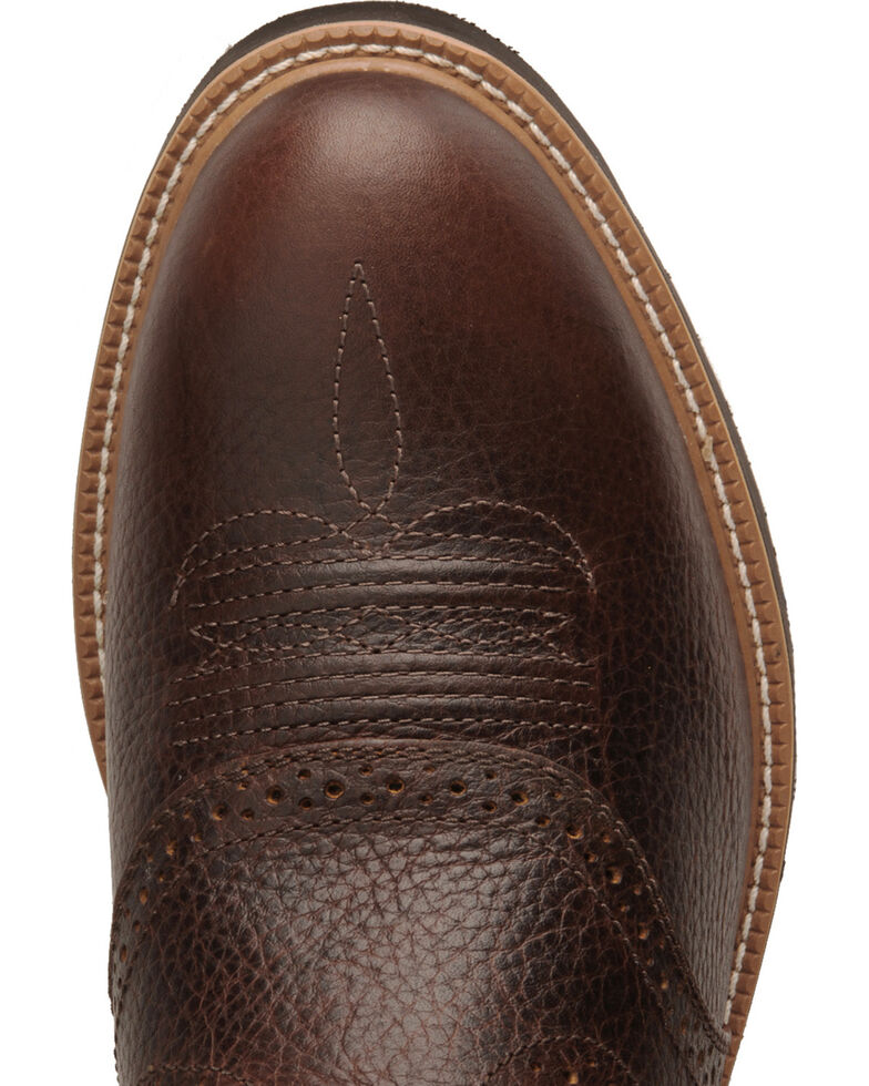 Twisted X Men's Pebble Glazed Pull-On Work Boots, Cognac, hi-res