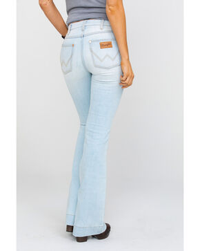 Wrangler Women's Heritage Light Flare Jeans , Light Blue, hi-res