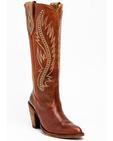 Idyllwind Women's Stance Western Boots - Round Toe, Cognac, hi-res