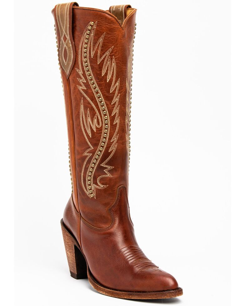 Idyllwind Women's Stance Western Boots - Pointed Toe, Cognac, hi-res