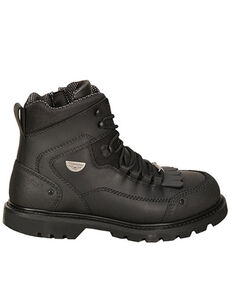 Milwaukee Motorcycle Clothing Co. Men's Explorer Moto Boots - Round Toe, Black, hi-res