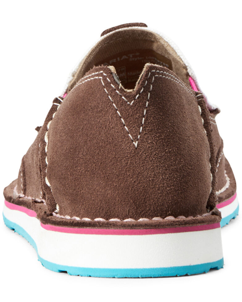 Ariat Women's Suede Cruiser Shoes - Moc Toe, Brown, hi-res