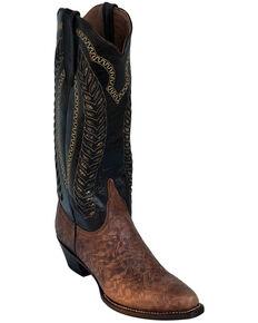 Ferrini Women's Comanchero Western Boots - Round Toe, Chocolate, hi-res