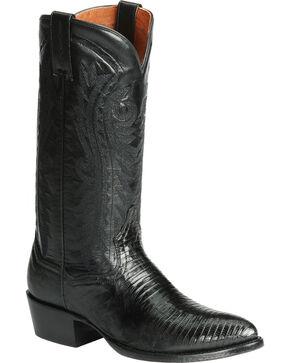 Dan Post Men's Raleigh Teju Lizard Exotic Boots, Black, hi-res