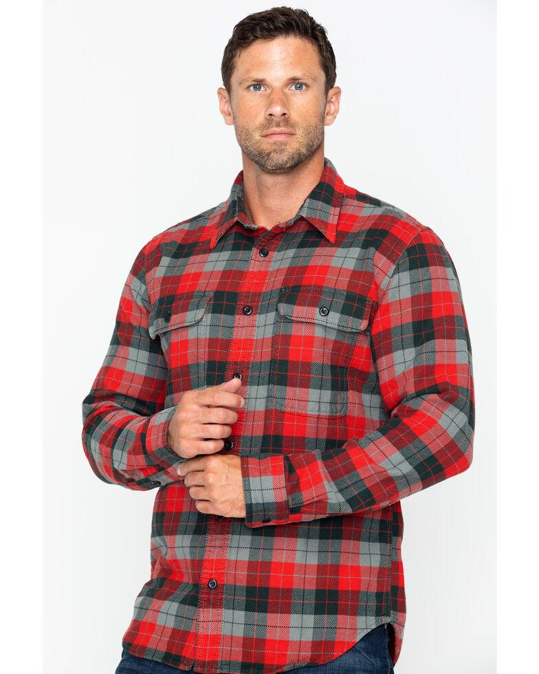 Filson Men's Vintage Flannel Work Shirt - Tall , Grey, hi-res