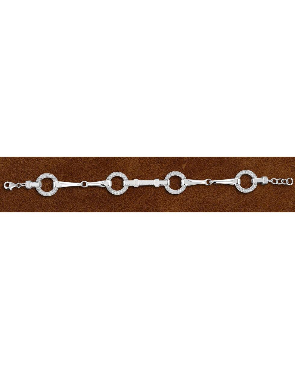 Kelly Herd Sterling Silver Snaffle Bit Bracelet , Silver, hi-res