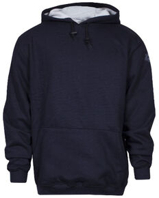 National Safety Apparel Men's Navy FR Heavyweight Lined Hooded Work Sweatshirt , Navy, hi-res