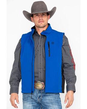 Wrangler Men's Blue Bonded Trail Vest, Blue, hi-res