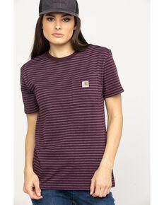 07ca965b7409f Carhartt Women's Wine Solid Workwear Pocket Work T-Shirt