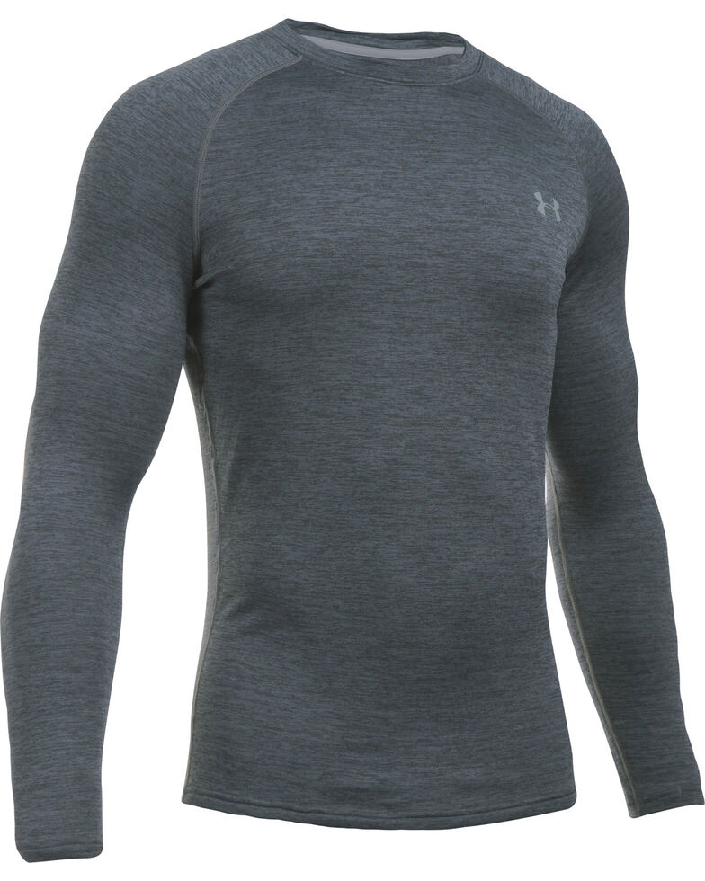 Under Armour Men's Base 4.0 Crew Shirt , Dark Grey, hi-res