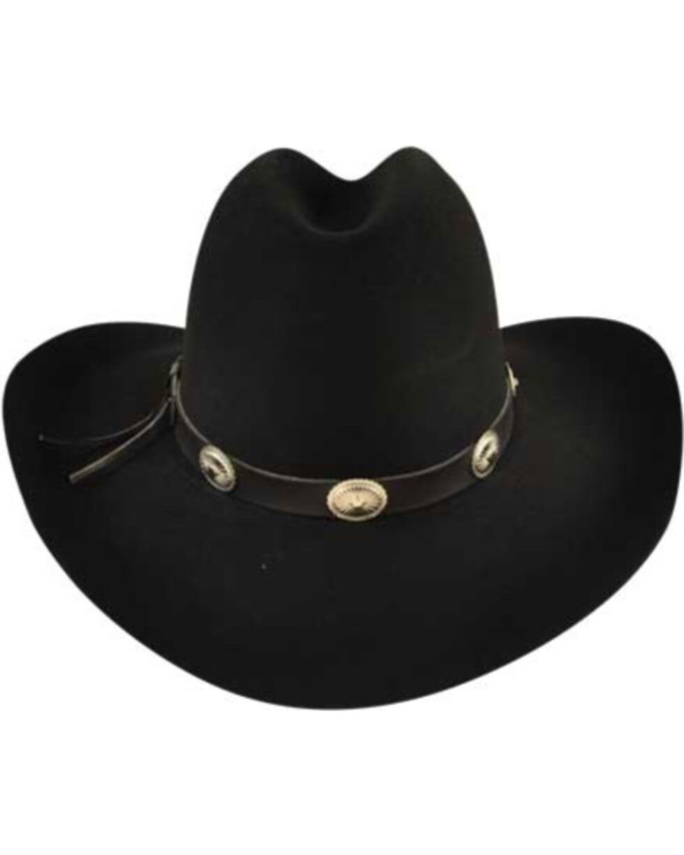 Bailey Men's Tombstone Black Western Hat, Black, hi-res