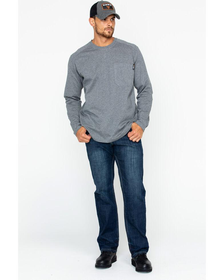 Hawx® Men's Solid Pocket Crew Tee , Heather Grey, hi-res