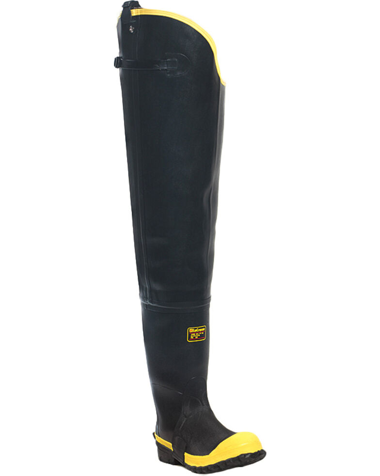 "Lacrosse Men's Storm Insulated Steel Toe 31"" Hip Boots, Black, hi-res"