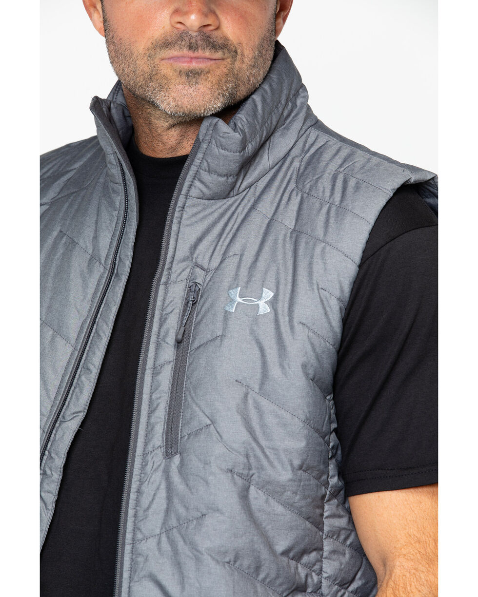 Under Armour Men's Coldgear Reactor Vest, Heather Grey, hi-res