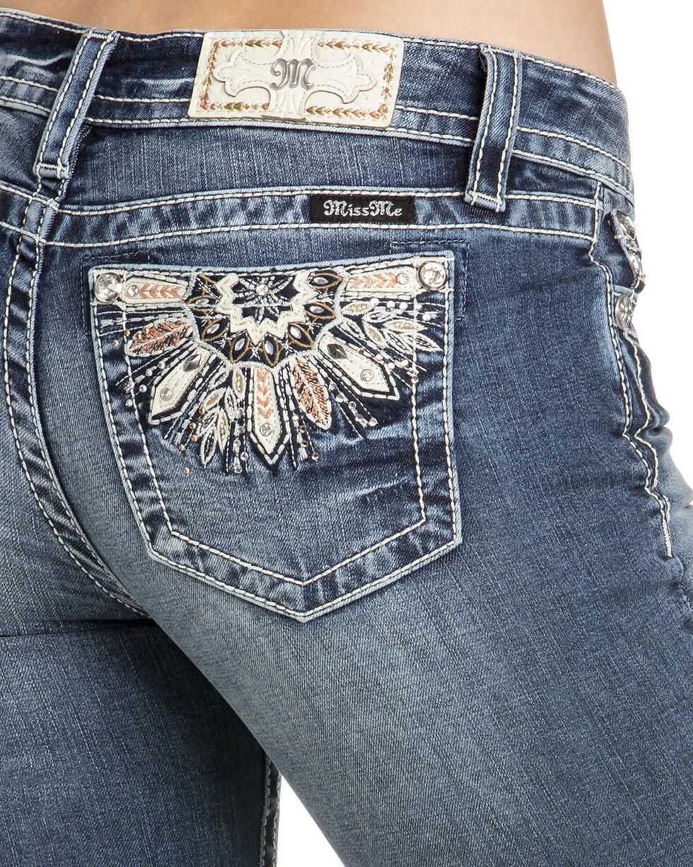 Miss Me Women's Medallion Pocket Boot Cut Jeans , , hi-res