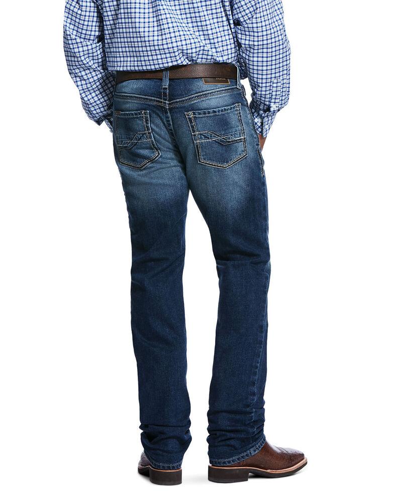 Ariat Men's M4 Cinder Outbound Rigid Stackable Slim Straight Jeans , Blue, hi-res