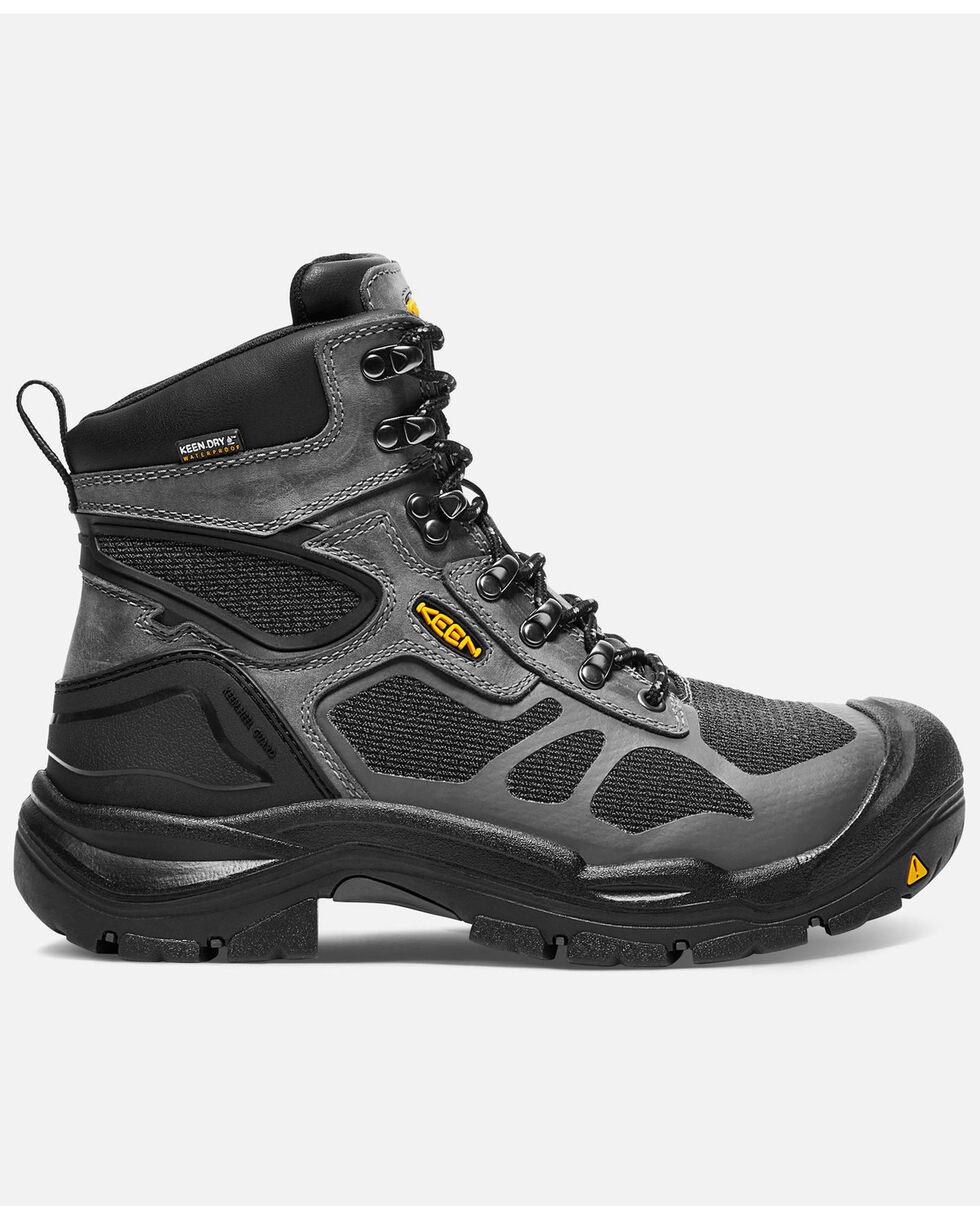 Keen Men's Cocncord Waterproof Work Boots - Steel Toe, Grey, hi-res