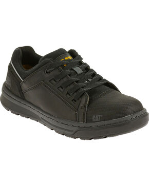 CAT Women's Concave Low Steel Toe Work Shoes, Black, hi-res
