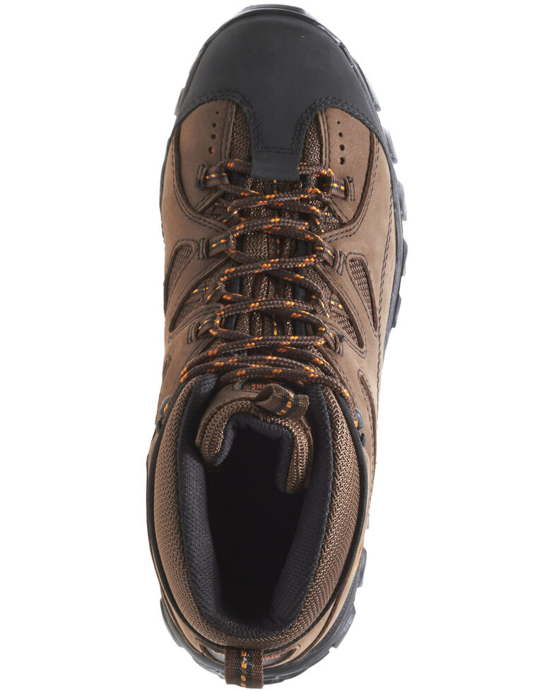 Wolverine Men's Hudson Mid Cut Steel Toe Hiker Boots, Dark Brown, hi-res