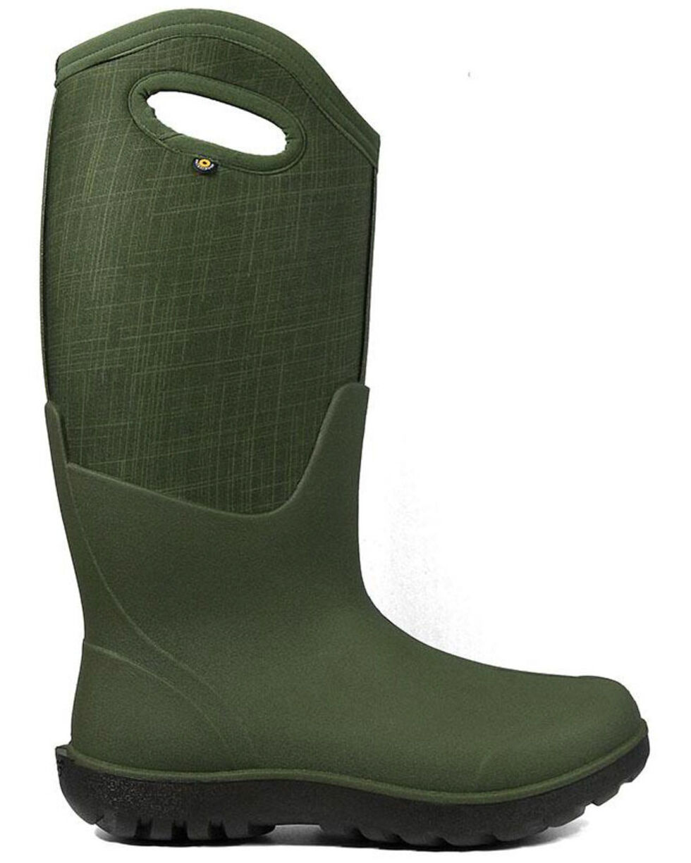 Bogs Women's Neo-Classic Linen Insulated Work Boots - Round Toe, Dark Green, hi-res