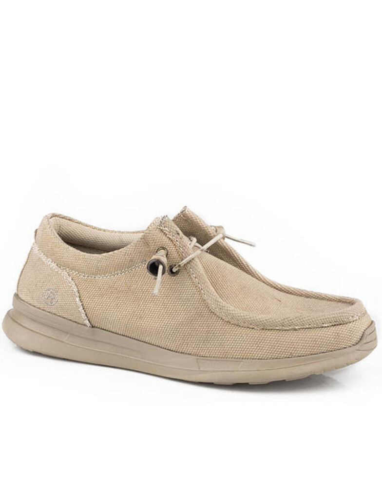 Roper Men's Tan Chillin Chukka Shoes - Moc toe, Tan, hi-res