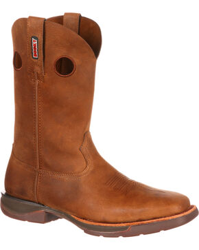 Rocky Men's Brown Roper Western Boots - Square Toe , Brown, hi-res