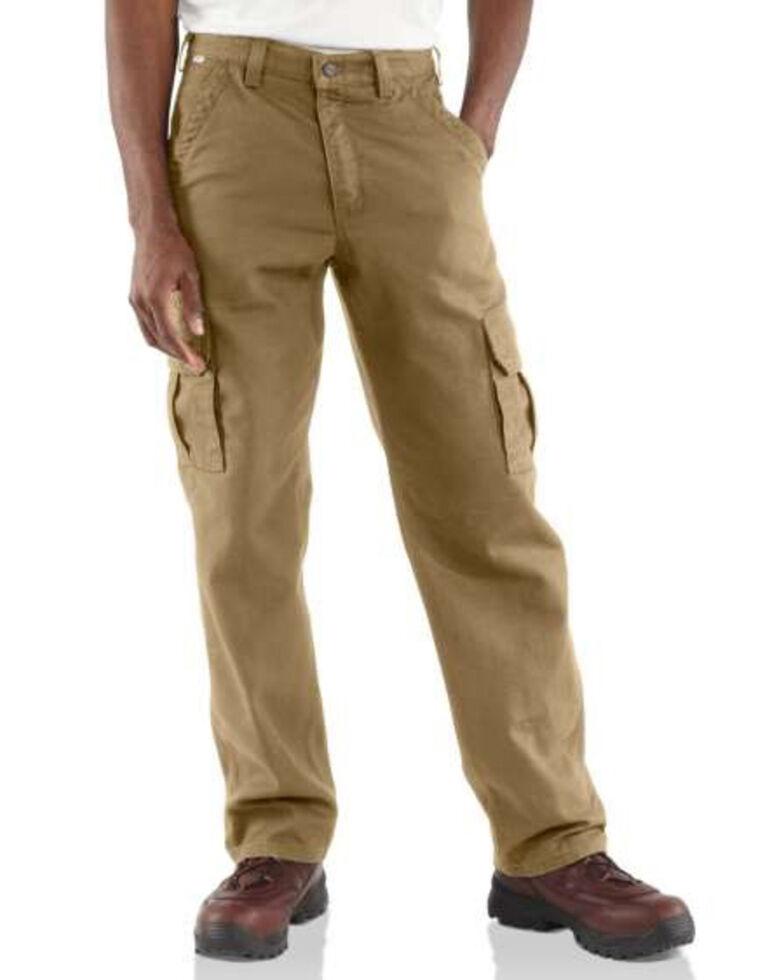 Carhartt Flame Resistant Canvas Cargo Pants, Khaki, hi-res