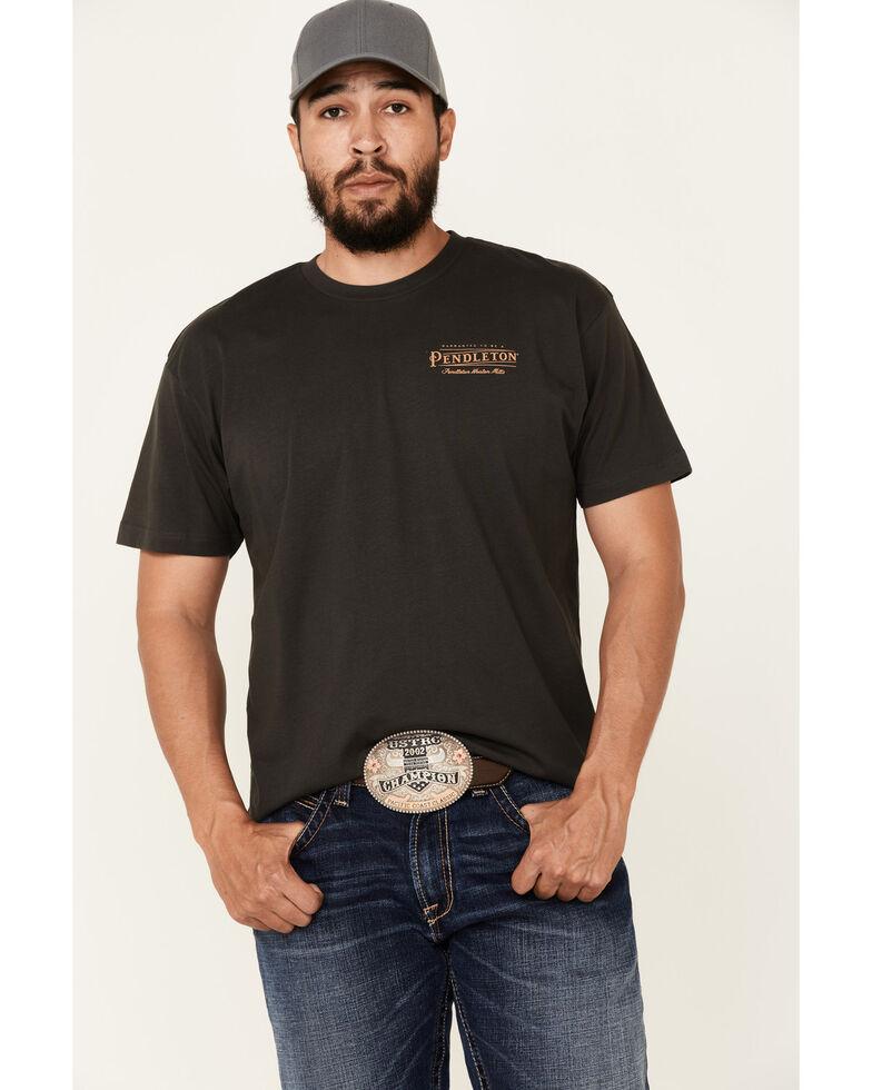 Pendleton Men's Vintage Black Warranted To Be Graphic Short Sleeve T-Shirt , Black, hi-res