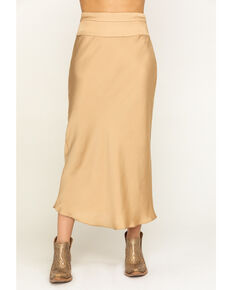Free People Women's Normani Bias Skirt  , Gold, hi-res