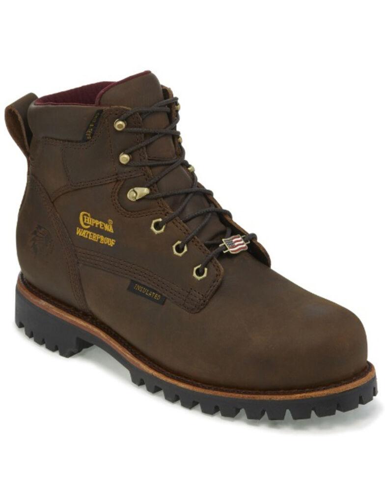 Chippewa Men's Modoc Waterproof Work Boots - Composite Toe, Brown, hi-res