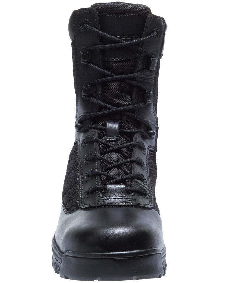 """Bates Men's 8"""" Tactical Sport Work Boots - Round Toe, Black, hi-res"""