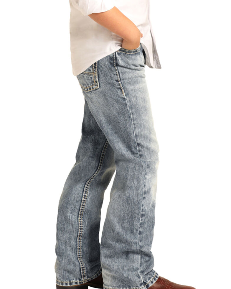 Rock & Roll Cowboy Boys' Reflex Light Vintage Boot Jeans , Blue, hi-res